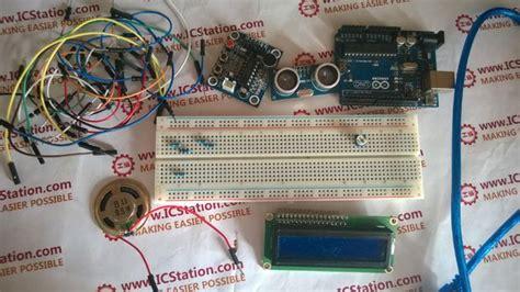 ultrasonic distance display isd voice alarm system
