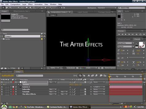 tutorial after effects camera basic camera moves after effects tutorial youtube