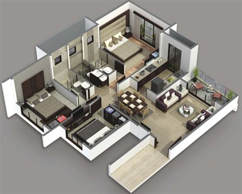 home plan design 3 bhk home design bedroom beach house plans for plan inspirations 3d 3 gallery interalle com