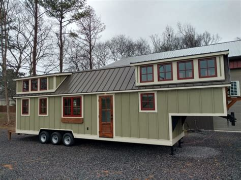 This Is A Super Long Timbercraft 37 Tiny House On Wheels Gooseneck Trailer Tiny House