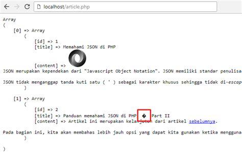 cara membuat json php json error pada php membuat json dari database jagowebdev