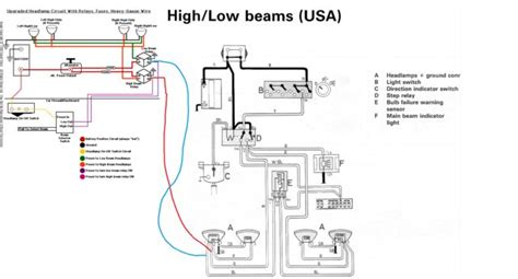 how to wire spotlights into high beam wiring diagram