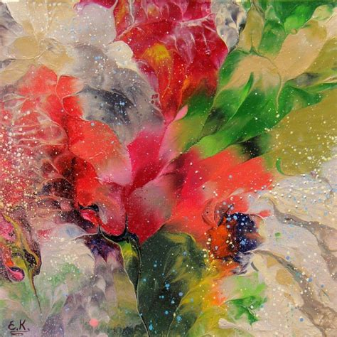 Abstract Flowers quot abstract floral quot small painting irini karpikioti