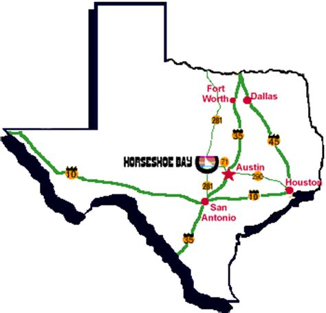 horseshoe bay texas map horseshoe bay how to find us