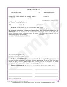 quitclaim deed to individuals or tenants in common