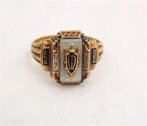 vintage josten 10k gold class ring 1959 size 4 75