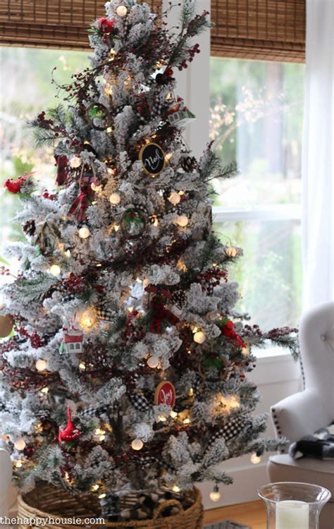 cabin chic winter woodland christmas tree style the