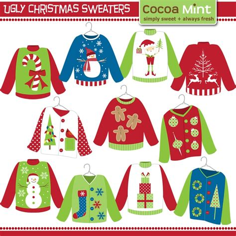 free ugly sweater printables sweater happy holidays
