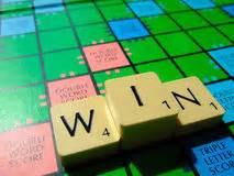 win scrabble scrabble creativity editorial stock image image 43086344