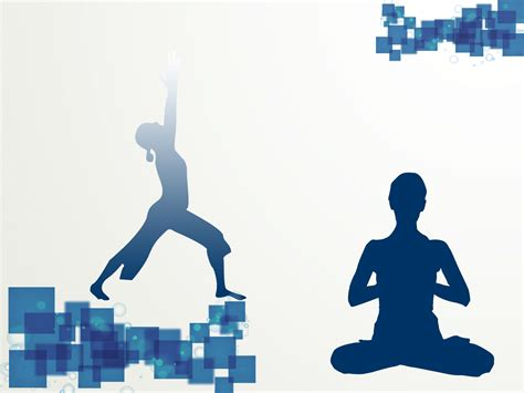 ppt templates for yoga free download yoga sport template ppt backgrounds blue sports