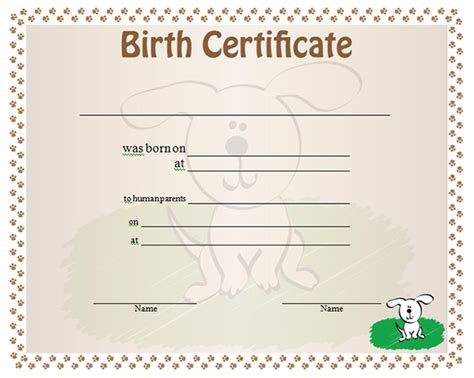 birth certificate templates 13 free birth certificate templates sleprintable