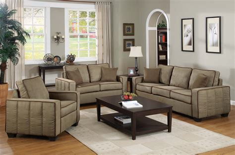 Taupe Living Room Furniture by Taupe Casual Classic Three Cushion Seat Sofa