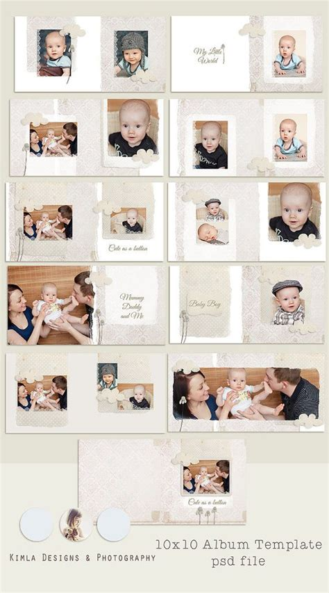 whcc templates 10x10 as a button boy whcc album template psd por