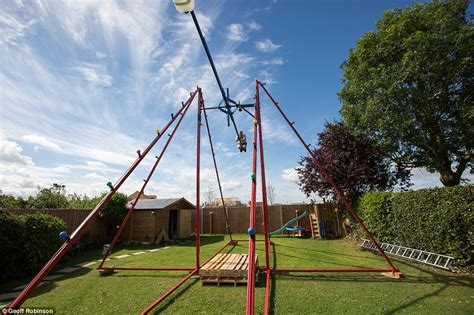 homemade swinging video video of stanford father who built 360 degree swing in his