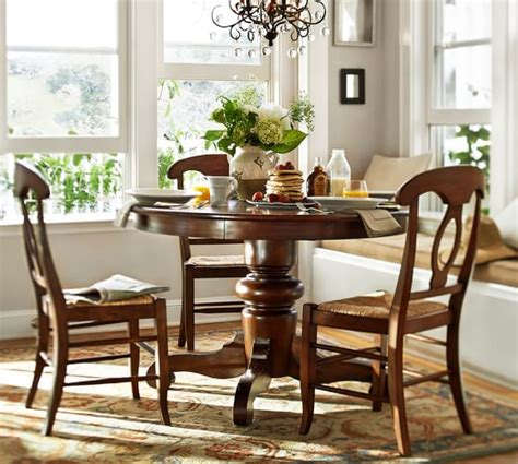 pottery barn dining tables tivoli fixed pedestal table napoleon chair 5 dining set pottery barn