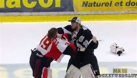 hockey bench clearing brawls qmjhl playoff game ends in massive bench clearing brawl video total pro sports