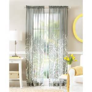 Sheer Window Curtains Better Homes And Gardens Arbor Springs Semi Sheer Window Curtain Walmart