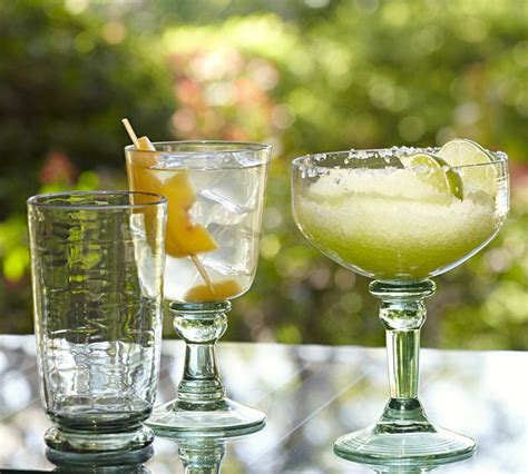 outdoor barware pottery barn vallarta outdoor drinkware the collected