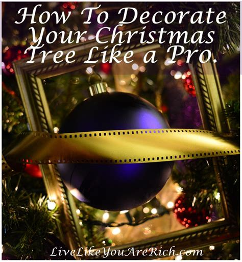 how to decorate your christmas tree like a pro live