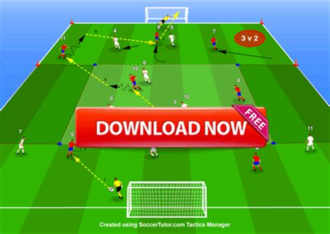 coaching positional play positional 9 v 9 zonal game connecting the defence midfield and attack soccer coaching drills