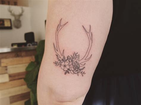 antler tattoos delicate antler for hayley portfolio