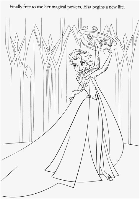 frozen coloring pages elsa ice castle free coloring pages of elsa only