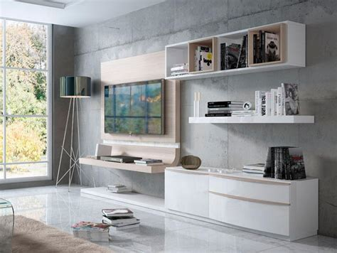 modern wall storage fenicia modern wall storage system with floating curved tv