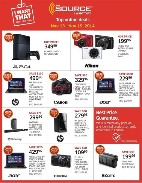 Deals November 13 2006 by The Source Canada Flyers