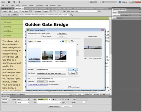 layouts with css in dreamweaver editing css layouts in dreamweaver cs5 cs6