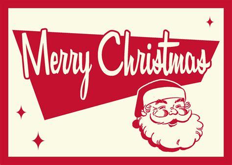 retro christmas card santa  robert  deviantart