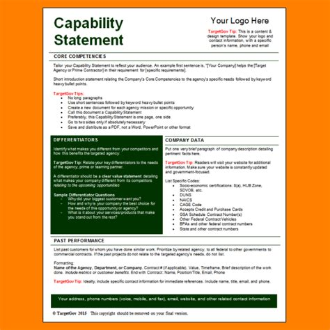 Company Capability Statement Template Gallery Template Design Ideas Capability Statement Template Word