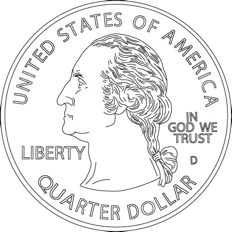 Coloring Page Quarter by Handwriting For Coloring Book Money United
