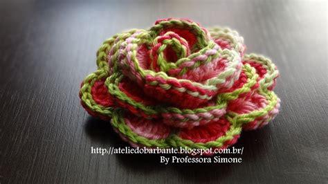 english pattern flower beautiful crochet rose not english but you can follow