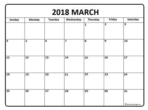 printable monthly calendar with space for notes march 2018 calendar 51 templates of printable calendars