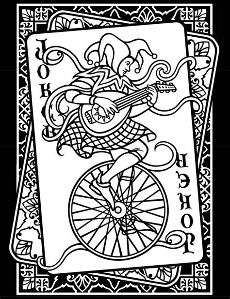 joker cards coloring pages free coloring pages of joker and cards