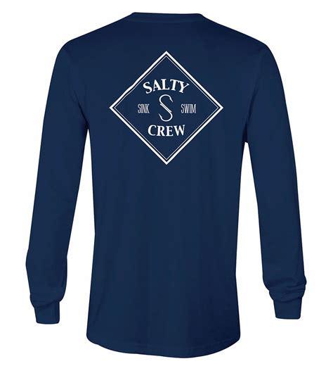 salty t shirt salty crew tippet sleeve t shirt navy tackledirect