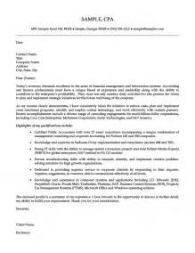 Exles Of Professional Cover Letters by Senior Accounting Professional Cover Letter