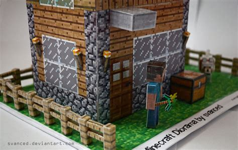 house diorama papercraft minecraft house new calendar template site