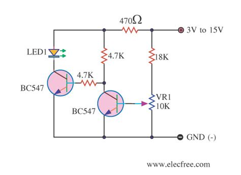 high voltage led indicator circuit battery low voltage alarm indicator circuits