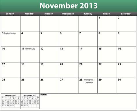 Blank November 2013 Calendar Printable blank calendar template november 2013 printable pdf