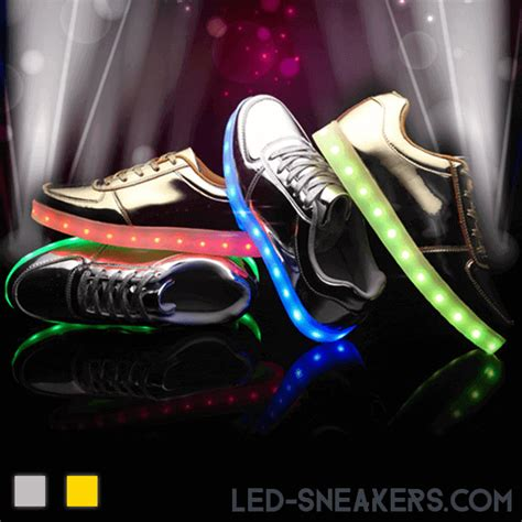 Gold Led Shoes led sneakers silver or gold led sneakers
