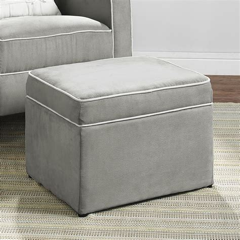Gray Storage Ottoman Dorel Living Baby Relax Abby Storage Ottoman Gray