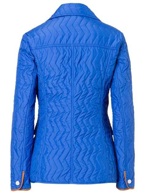 Light Quilted Jacket by Basler Light Quilted Jacket With Piping In Blue Azure Lyst