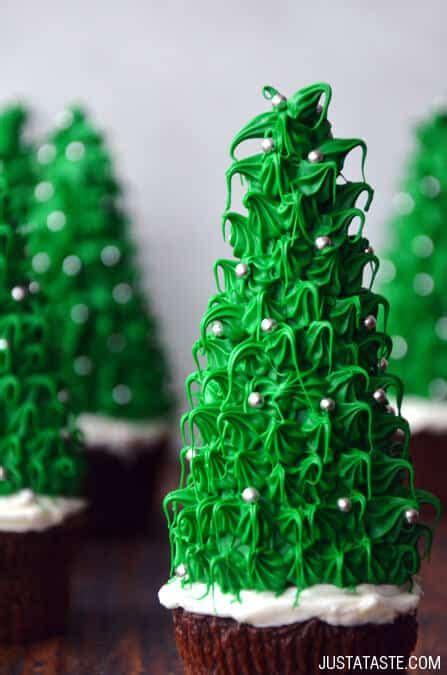 just a taste christmas tree cupcakes