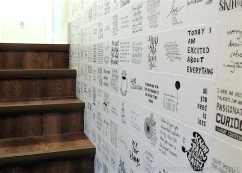 Decoupage Ideas Walls - the coolest quote wall mod podge rocks