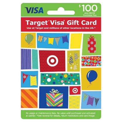 visa gift card printable coupon visa gift card 100 6 fee target