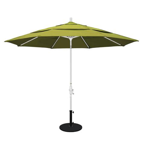 11 Patio Umbrella California Umbrella 11 Ft Aluminum Collar Tilt Vented Patio Umbrella In Kiwi Olefin