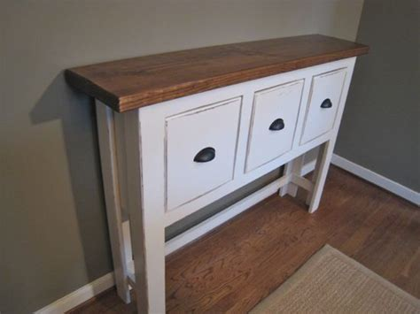 ana white console table with drawers ana white pottery barn s bailey console table diy projects