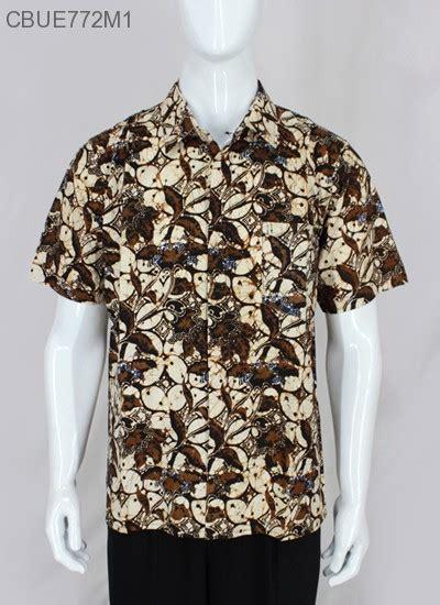 Kemeja Katun Sogan By Barosa Batik baju batik kemeja sogan kemeja lengan pendek murah