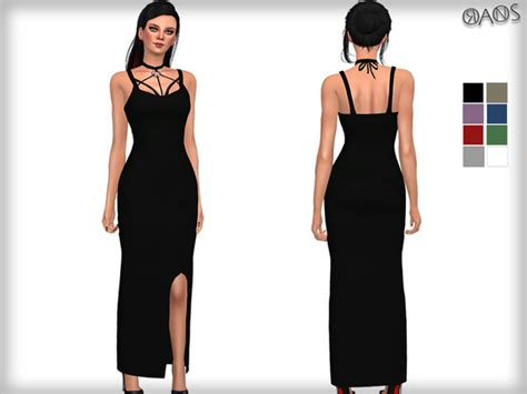 Tr Dress the sims resource harness detailed maxi dress by oranos